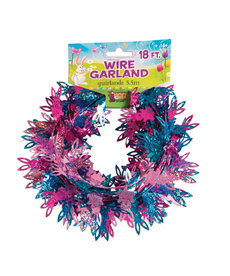 Easter Multicolored Holographic Wire Garland