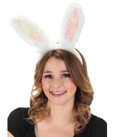 elope elope Light-Up White Rabbit Ears Headband