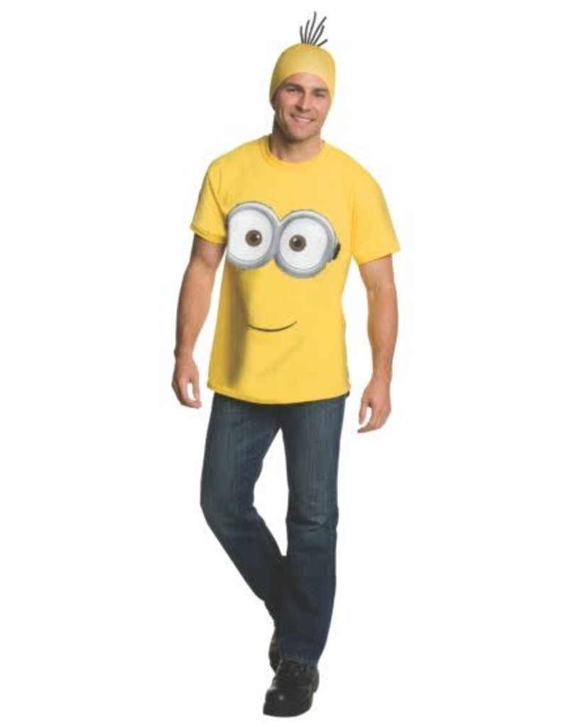 Rubies Costumes Adult Minion Shirt and Headpiece - Minions Movie