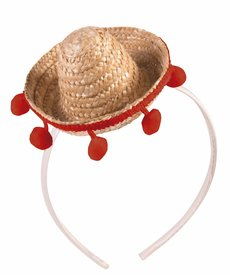 Mini Straw Sombrero Headband