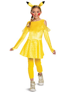 Disguise Costumes Disguise Girl's Deluxe Pikachu Girl