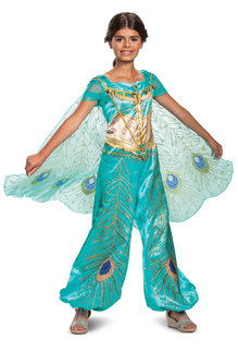 Disguise Costumes Girl's Deluxe Jasmine Teal Costume (Aladdin 2019)