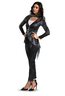 Disguise Costumes Women's Deluxe Female Jack Skellington Costume