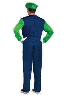 Disguise Costumes Men's Deluxe Luigi Costume