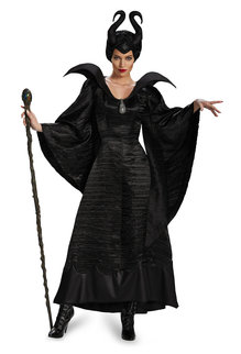Disguise Costumes Women's Deluxe Maleficent Christening Black Gown Costume