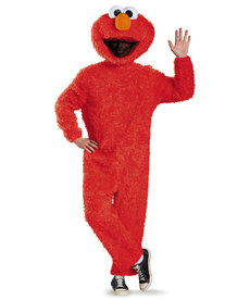 Disguise Costumes Adult Presige Elmo Plush Costume