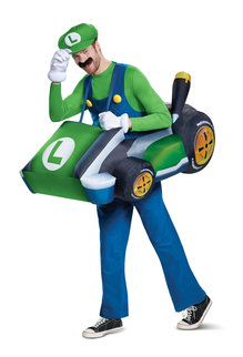Disguise Costumes Adult Luigi Kart Inflatable Costume