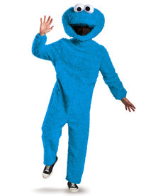 Disguise Costumes Adult Prestige Cookie Monster Plush Costume