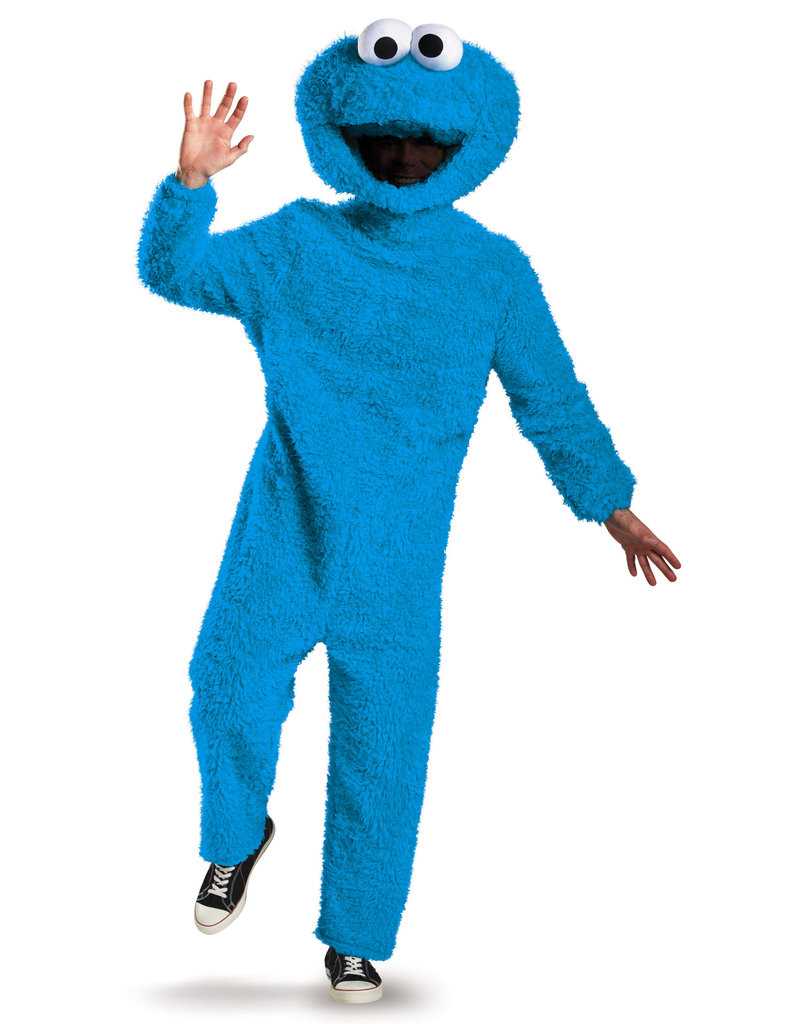 Disguise Costumes Adult Prestige Plush Cookie Monster Costume