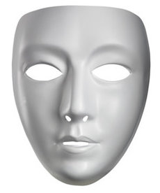 Disguise Costumes Blank White Mask - Female