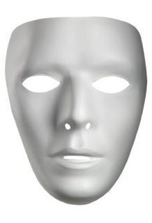 Disguise Costumes Blank White Mask - Male