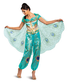 Disguise Costumes Women's Deluxe Jasmine Teal Costume (Aladdin 2019)