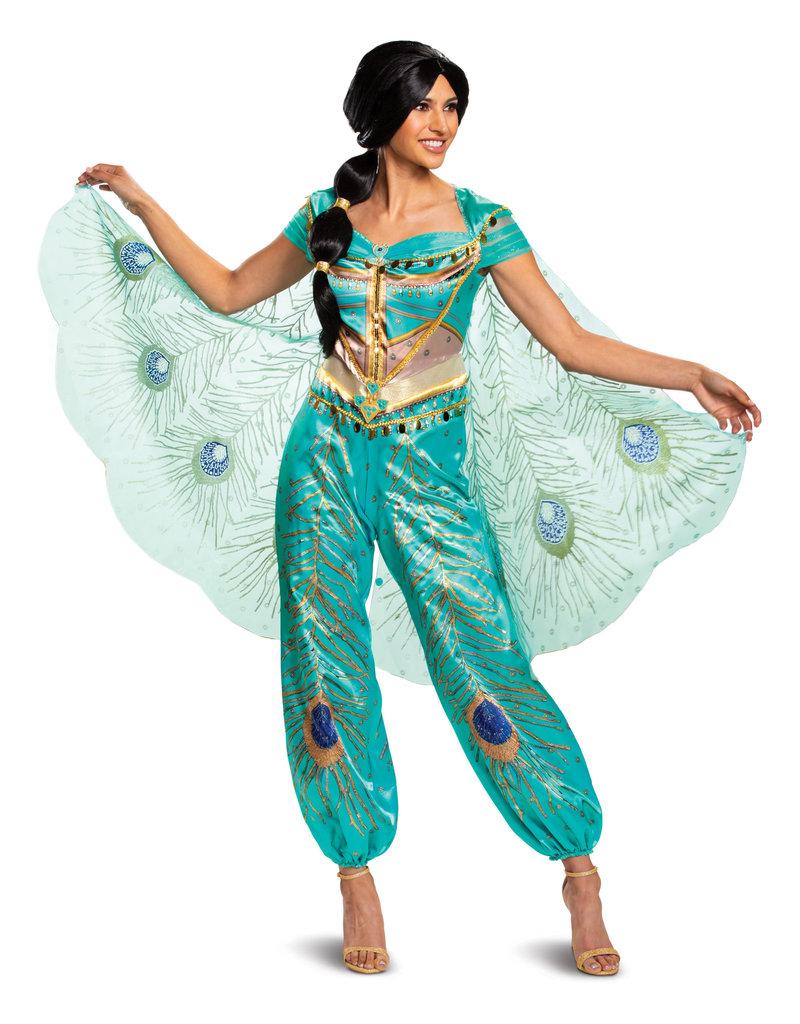 Disguise Costumes Women's Deluxe Jasmine Teal Costume (Aladdin 2019)