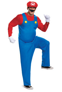Disguise Costumes Men's Deluxe Mario Costume