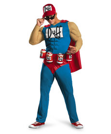Disguise Costumes Adult Duffman Costume (The Simpsons)