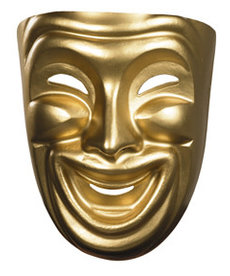 Disguise Costumes Gold Comedy Adult Mask