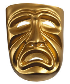 Disguise Costumes Gold Tragedy Adult Mask