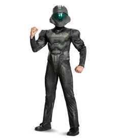 Disguise Costumes Boy's Classic Halo: Spartan Buck Costume with Muscles