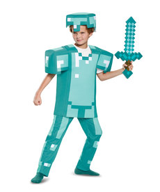 Disguise Costumes Kids Deluxe Minecraft Diamond Armor Costume