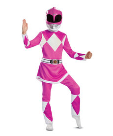 Disguise Costumes Girl's Deluxe Pink Ranger Costume
