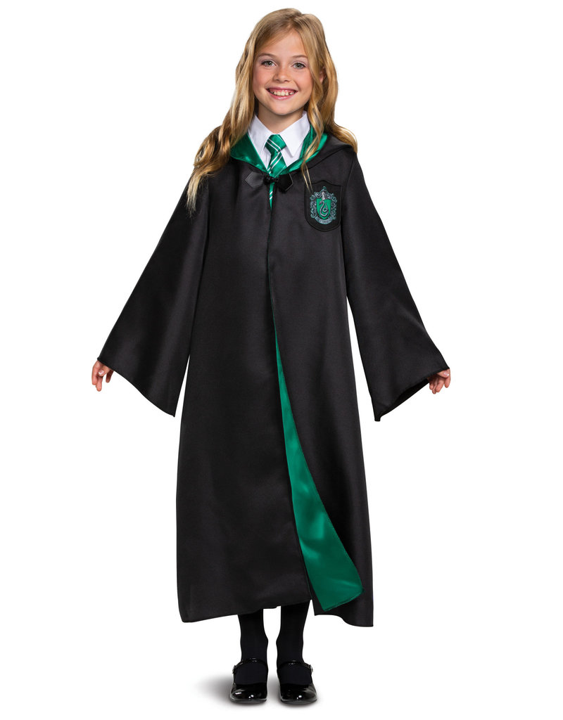 Kids Deluxe Slytherin Robe Harry Potter Johnnie Brocks Dungeon