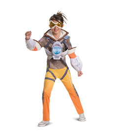 Disguise Costumes Girl's Deluxe Tracer Costume (Overwatch)
