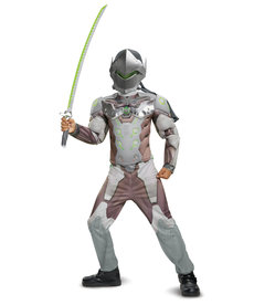 Disguise Costumes Boy's Genji Costume with Muscles (Overwatch)