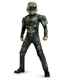 Disguise Costumes Boy's Classic Halo: Master Chief Costume with Muscles