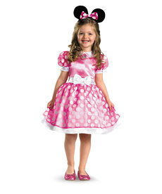 Disguise Costumes Kids Pink Minnie Mouse Classic Costume