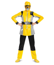 Disguise Costumes Girl's Deluxe Yellow Ranger Beast Morpher Costume