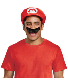 Disguise Costumes Mario Hat & Mustache Kit: Adult