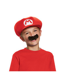 Disguise Costumes Mario Hat & Mustache Kit: Child