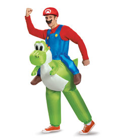 Disguise Costumes Adult Mario Riding Yoshi Inflatable Costume