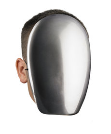 Disguise Costumes No Face Chrome Mask