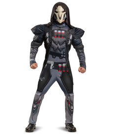 Disguise Costumes Men's Reaper Costume with Muscles (Overwatch)