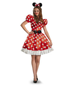 Disguise Costumes Women's Red Minnie Mouse Classic Costume