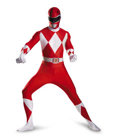 Disguise Costumes Men's Red Ranger Bodysuit Costume