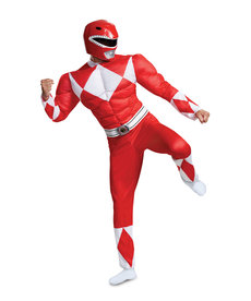 Disguise Costumes Men's Classic Red Ranger Costume with Muscles