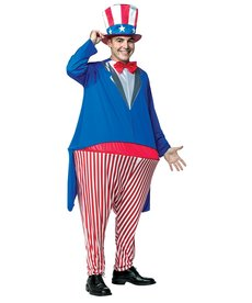 Men's Uncle Sam Hoopster Costume