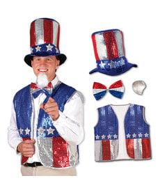 Sequined Uncle Sam Set