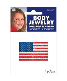 Body Jewelry: Glitter American Flag