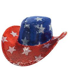 Patriotic Glitter Cowboy Hat