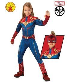 Rubies Costumes Girl's Deluxe Captain Marvel Hero Suit Costume