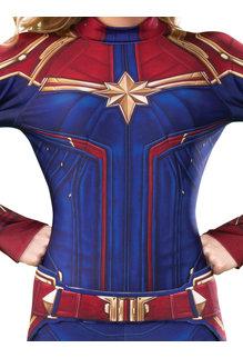 Rubies Costumes Women's Deluxe Captain Marvel Hero Suit Costume