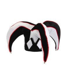 elope elope Court Jester Plush Hat Black & White
