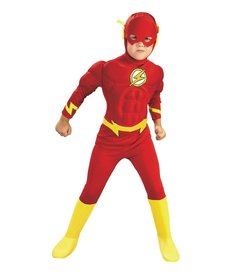 Rubies Costumes Boy's Deluxe The Flash Costume with Muscle Chest