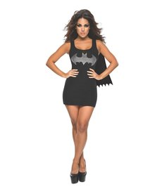 Rubies Costumes Women's Batgirl Tank Dress with Rhinestones