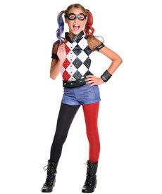 Rubies Costumes Girl's Deluxe Harley Quinn Costume (DC Super Hero Girls)