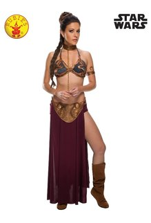 Rubies Costumes Women's Princess Slave Leia Costume (Gold Bikini Outfit): Star Wars Saga
