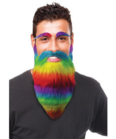 Beard and Eyebrows - Rainbow